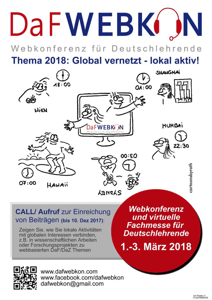 DaFWEBKON - Call for Abstracts 2018