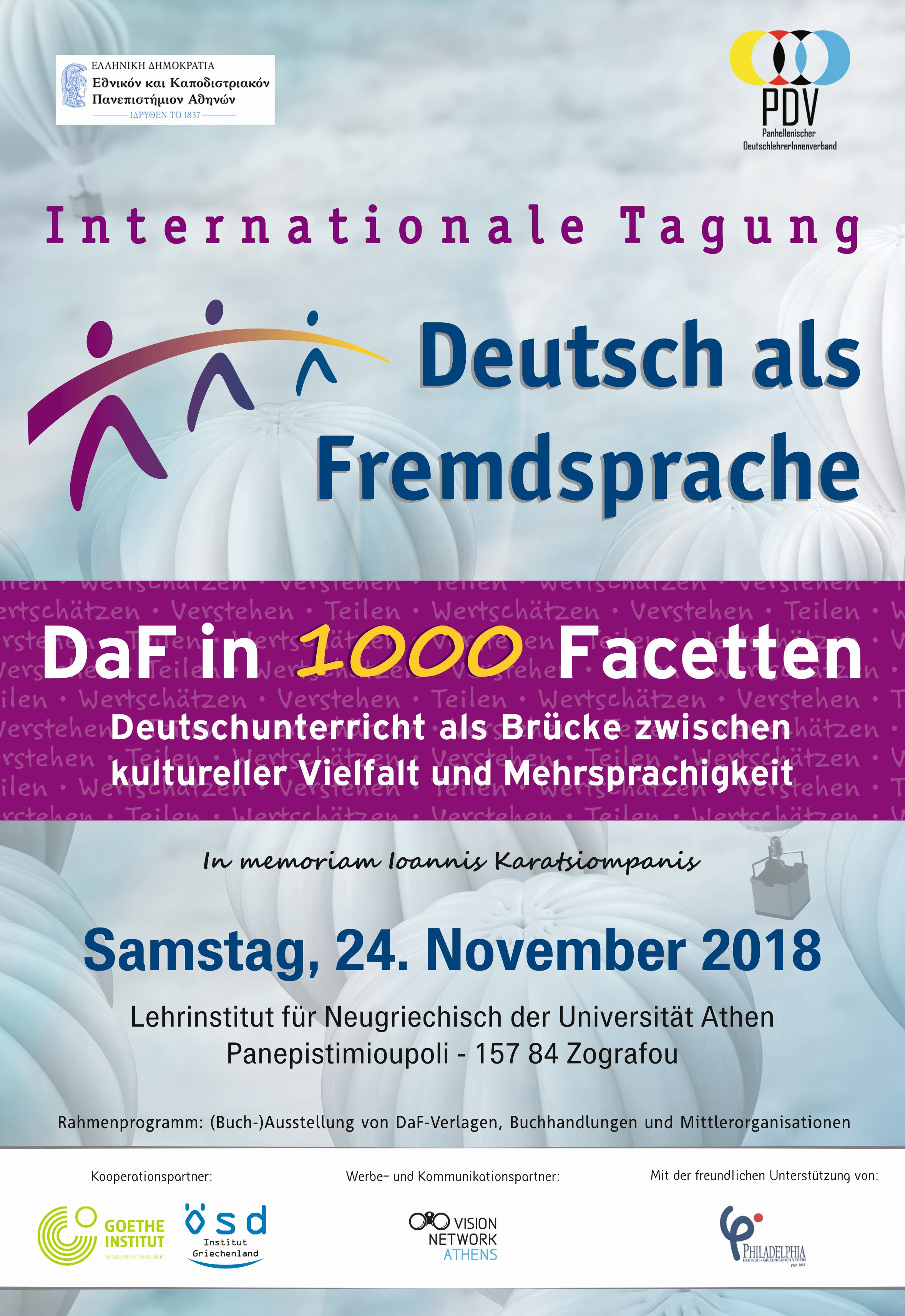 Internationale Tagung Deutsch als Fremdsprache - Plakat, Programm